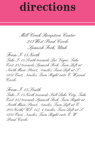 Country Direction Cards