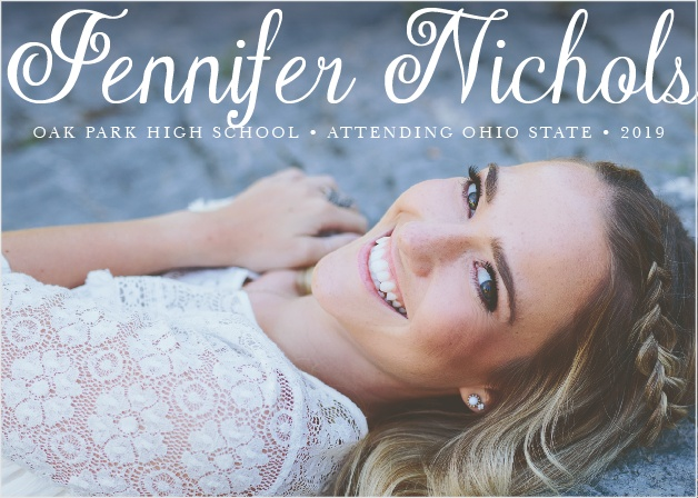 Plain Elegance Graduation Announcement
