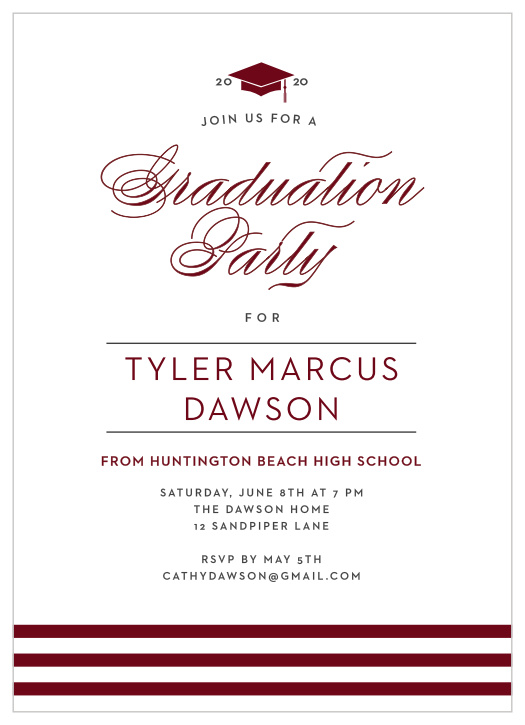 2019 Graduation Announcements & Invitations For High School