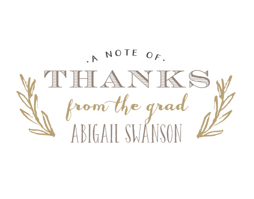 Sketched Graduation Thank You Cards
