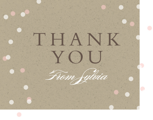 Cork and Confetti Graduation Thank You Cards