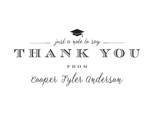 Classically Stated Graduation Thank You Cards