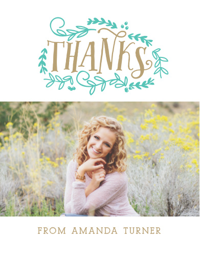 Vines Graduation Thank You Cards