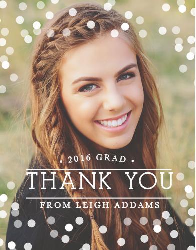 Confetti Celebration Graduation Thank You Cards