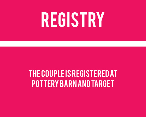 Modern Circles Registry Cards
