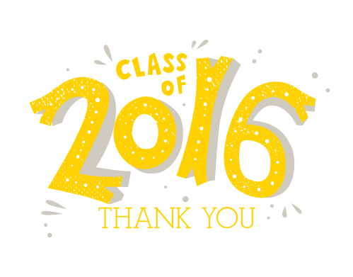 Party Year Graduation Thank You Cards