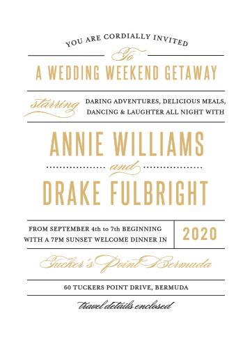 Destination Weekend Wedding Invitations