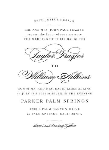 Elegant Vintage Portrait Wedding Invitations