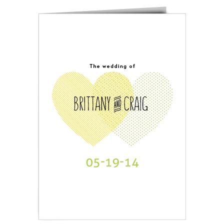 Heart to Heart Wedding Program