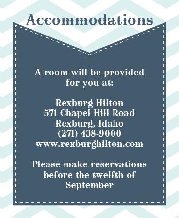 The Chevron Arrow Accommodation Cards