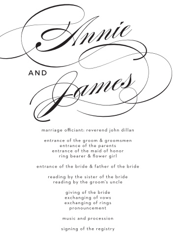 Swirling Simplicity Wedding Programs
