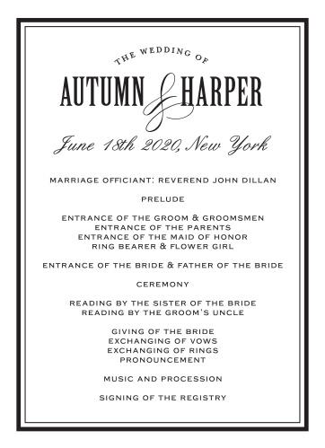 Antique Elegance Wedding Programs