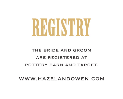 Antique Elegance Registry Cards