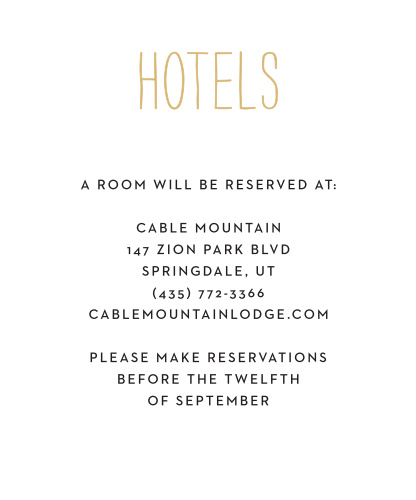 Rustic Type Accommodation Cards