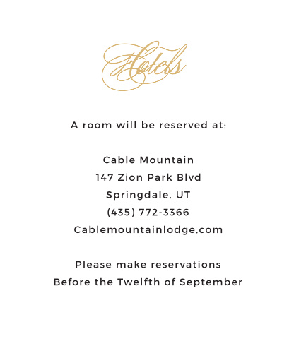 Charmed Monogram Accommodation Cards