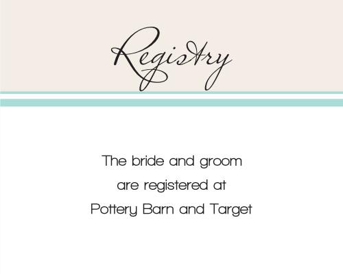 Tiny Seashell Registry Cards