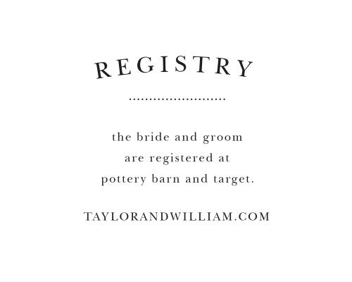 Elegant Vintage Registry Cards