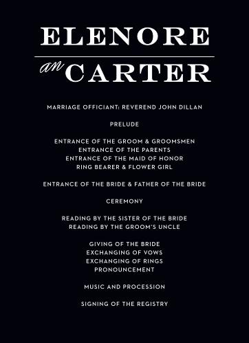 Vintage Ticket Wedding Program