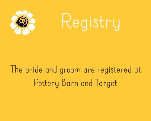 Summer Daisy Registry Cards