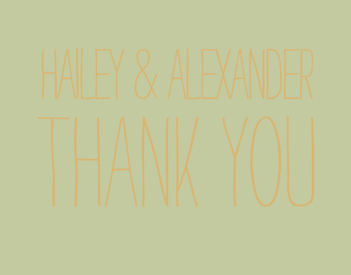 Rustic Type Thank You Cards
