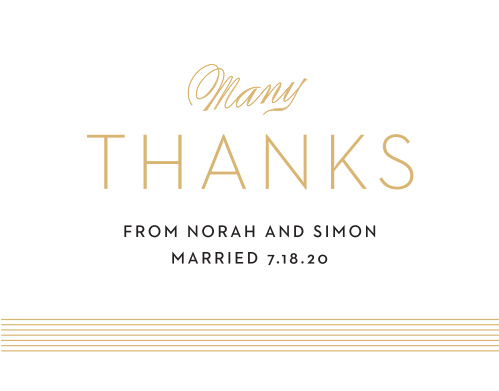 Deco Type Thank You Cards