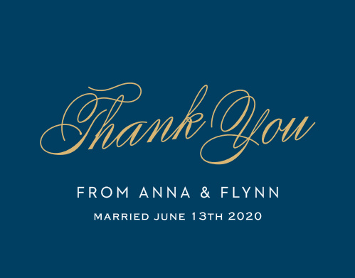Statement Script Thank You Cards