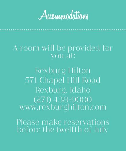 Retro Ribbon Accommodation Cards