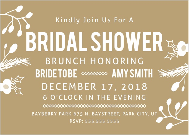 falling in love brunch bridal shower invitation