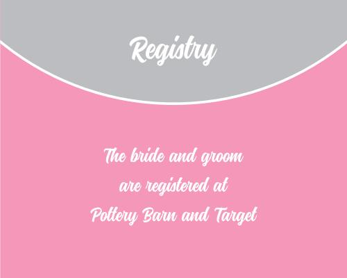 Modern Half Circle Registry Cards