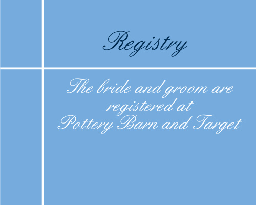 Sweet Simplicity Registry Cards