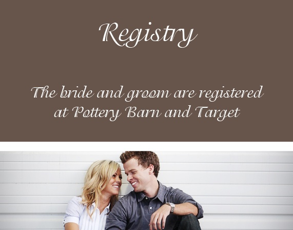 The Happy Couple Registry Cards