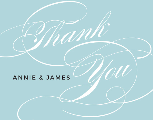 Swirling Simplicity Foil Thank You Cards