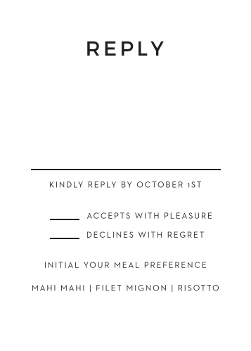 Swirling Simplicity Foil Response Cards