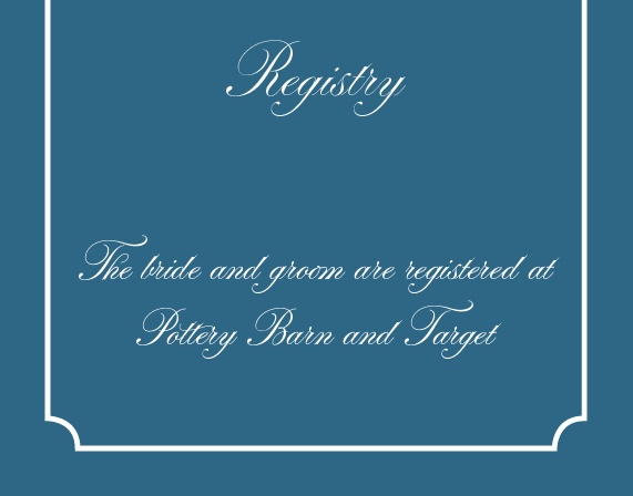 The Lace Doily Registry Cards
