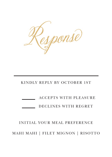 Romantic Calligraphy Foil Response Cards