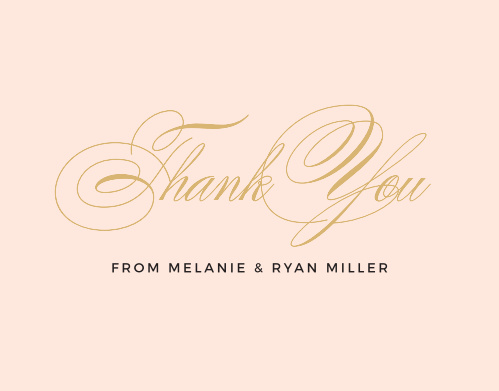Charmed Monogram Foil Thank You Cards
