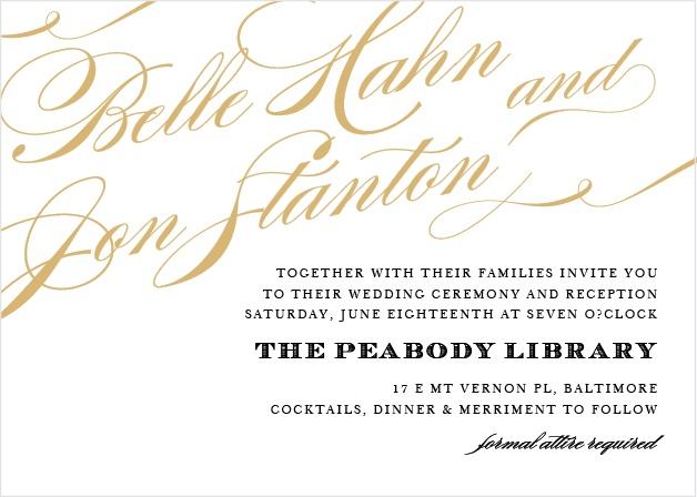 Cheri Foil Landscape Wedding Invitation
