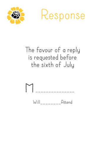 Summer Daisy RSVP Cards
