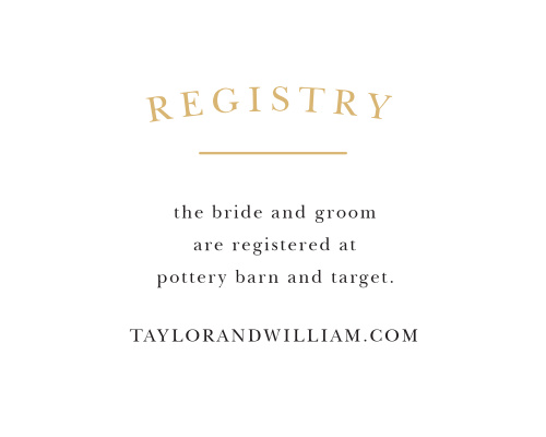 Wedding Gift Card Registry: Customizable Wedding Registry Cards