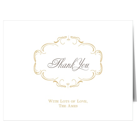 The Flourish Charm Foil Thank You Card