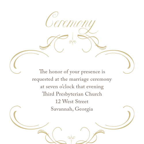 Flourish Charm Foil Ceremony Cards