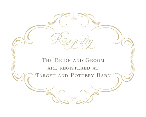 Flourish Charm Foil Registry Cards