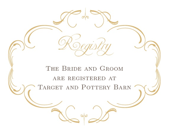 The Flourish Charm Foil Registry Cards