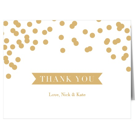 Glamorous Standard Foil Thank You Cards