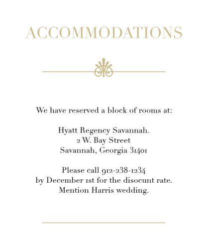 Glamorous Standard Foil Accommodation Cards