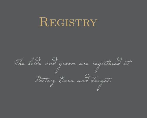 Illustrated Rose Foil Registry Cards