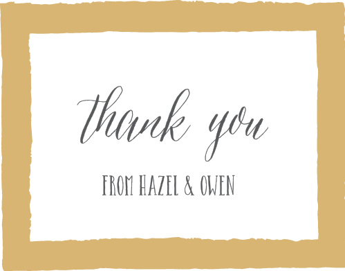 Painted Border Foil Thank You Cards