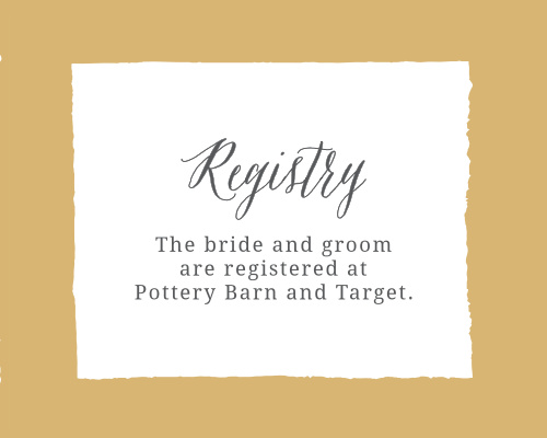 Painted Border Foil Registry Cards