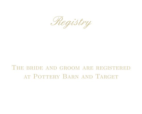 Simple Luxury Foil Registry Cards