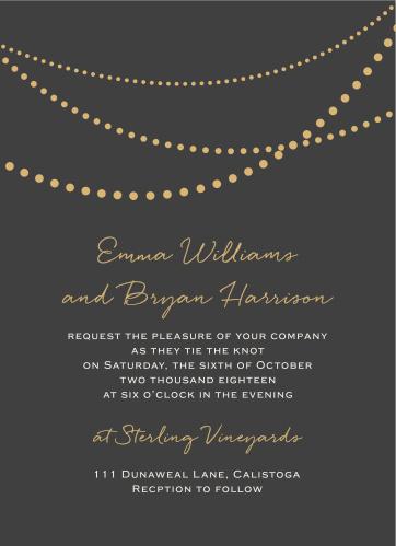 String Lights Foil Wedding Invitations